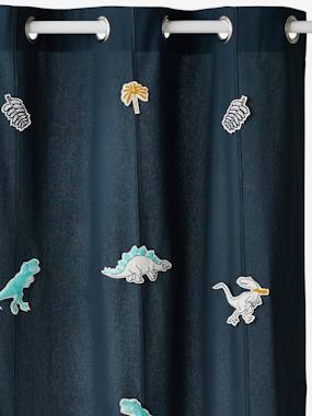 Vertbaudet Collection-Decoration-Sheer Curtain, Dinorama Theme