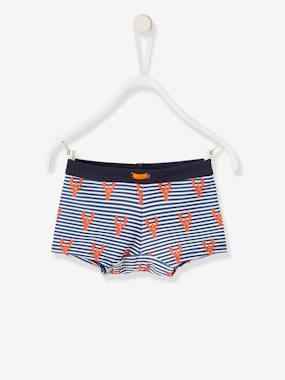 Swimwear-Swim Shorts for Baby Boys, with Lobster Motifs