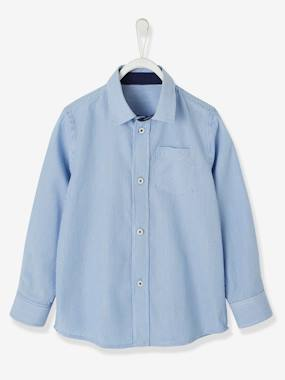 haut-Striped Long-Sleeved Shirt For Boys