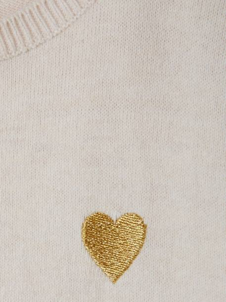 Shiny Heart Jumper for Girls BEIGE MEDIUM MIXED COLOR+BLUE DARK SOLID+PINK MEDIUM SOLID WITH DESIG+RED DARK SOLID WITH DESIGN - vertbaudet enfant