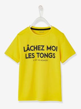 Boys-Tops-T-Shirts-T-Shirt with Message, for Boys