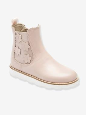 Chaussures-Chaussures fille 23-38-Boots fille en cuir vernis