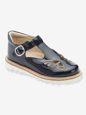 Bonnes affaires-Shoes-Patent Leather T-Strap Sandals for Girls, Designed for Autonomy