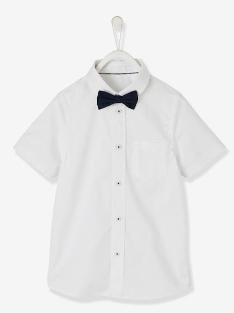 Shirt & Bow Tie for Boys PINK LIGHT SOLID WITH DESIGN+WHITE LIGHT SOLID WITH DESIGN - vertbaudet enfant