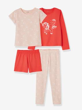 Fille-Pyjama, surpyjama-Lot de 2 pyjamas fille combinables