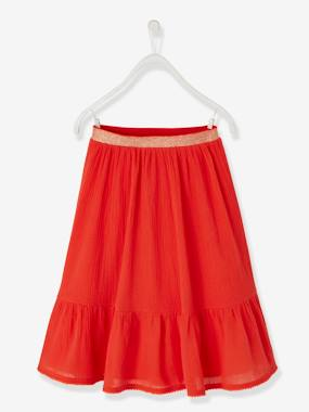 Festive favourite-Girls-Long Crepon Skirt for Girls