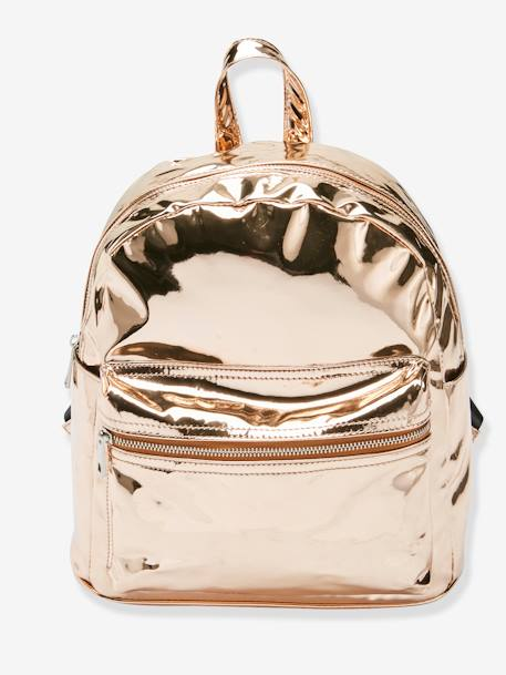 Shiny Backpack for Girls PINK LIGHT SOLID - vertbaudet enfant