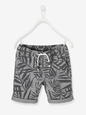 Boys-Shorts-Bermuda Shorts with Palm Trees, for Boys