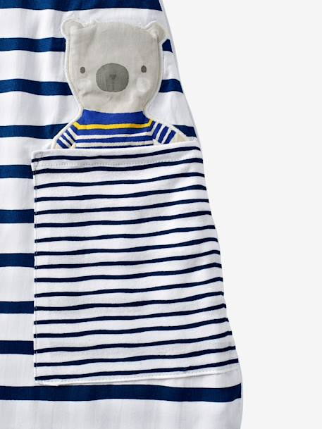 Summer Baby Sleep Bag, Fun Sailor Theme White/navy - vertbaudet enfant