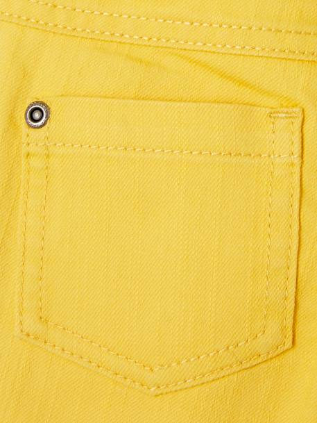 Slim Leg Trousers in Stretch Cotton for Baby Boys YELLOW DARK SOLID - vertbaudet enfant