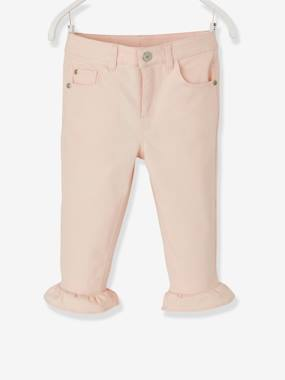 Girls-Trousers-7/8 Trousers with Frills for Girls