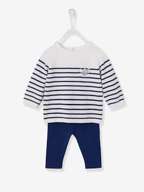 Baby-Outfits-Sailor-Style Top & Leggings Outfit for Baby Girls