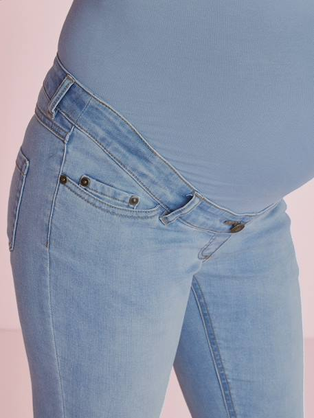 Maternity Slim Strech Jeans - Inside Leg 33' BLACK DARK SOLID+BLUE DARK WASCHED+BLUE LIGHT WASCHED+Denim brut+Light grey denim - vertbaudet enfant