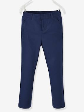 Boys-Cotton/Linen Chino Trousers for Boys