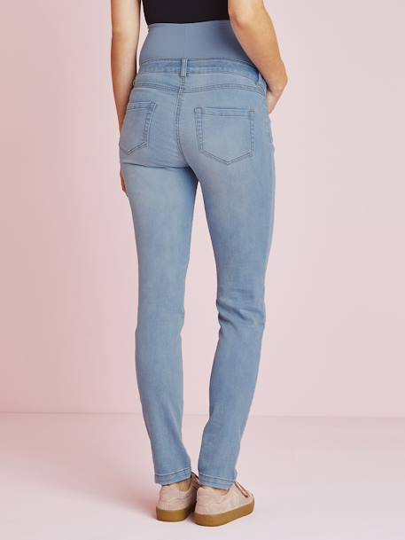 Maternity Slim Strech Jeans - Inside Leg 33' BLACK DARK SOLID+BLUE DARK WASCHED+BLUE LIGHT WASCHED+Denim brut+GREY MEDIUM WASCHED - vertbaudet enfant