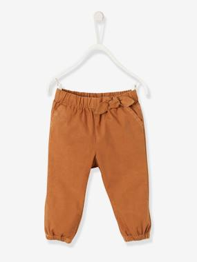 Baby-Trousers & Jeans-Trousers with Elasticated Waistband for Baby Girls