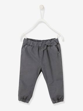 Mid season sale-Baby-Trousers & Jeans-Trousers with Elasticated Waistband for Baby Girls