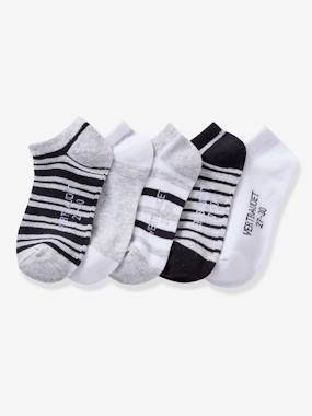 Boys-Underwear-Socks-Pack of 5 Pairs of Invisible Socks for Boys