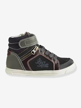 Vertbaudet Sale-Shoes-Boys' High Top Leather Trainers