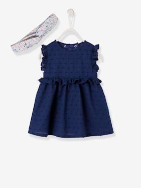Baby-Outfits-Dress + Headband Ensemble for Baby Girls
