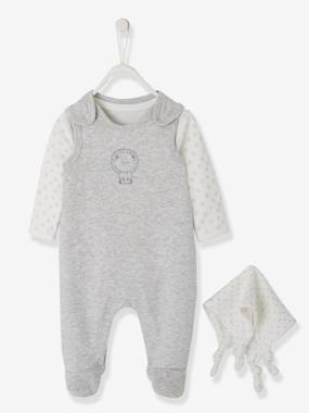Summer collection-Baby-Newborn Set: Sleepsuit + Bodysuit + Comforter in Organic Cotton