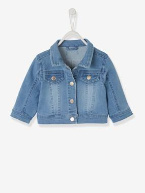 Baby-Outerwear-Coats-Denim Jacket with Embroidered Detail on the Back for Babies
