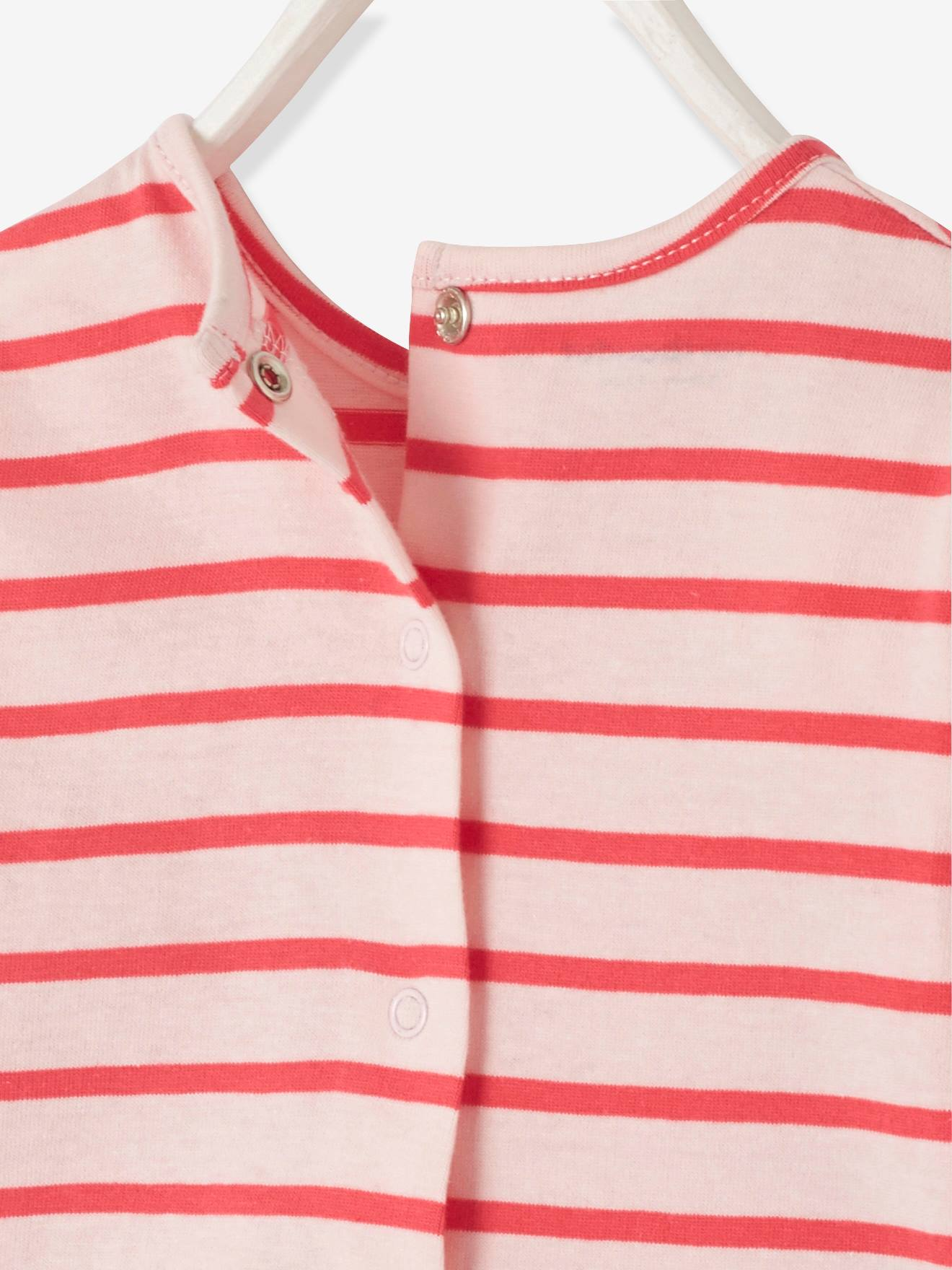 56042fae9 2-in-1 Sailor-Type Top for Baby Girls - red light striped, Baby