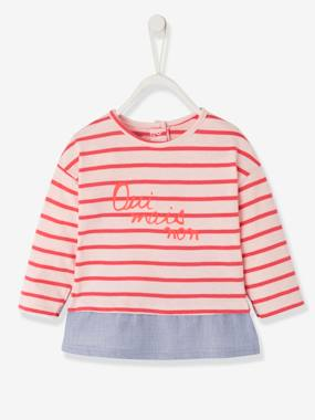 Baby-2-in-1 Sailor-Type Top for Baby Girls