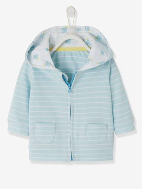CARDIGAN BLUE LIGHT STRIPED - vertbaudet enfant
