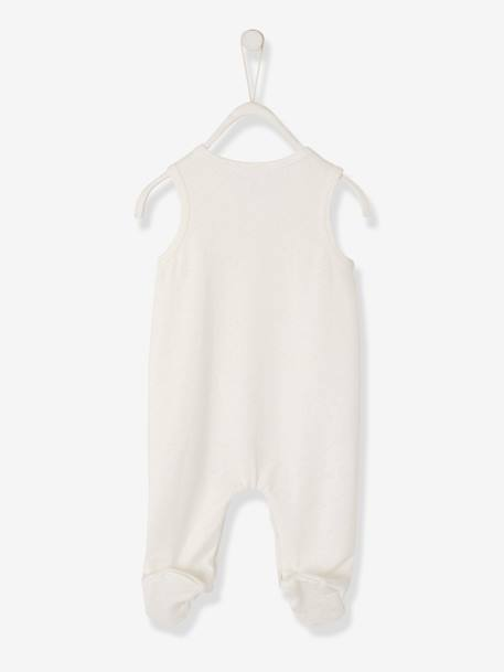 Newborn Set: Sleepsuit + Bodysuit + Comforter in Organic Cotton BEIGE LIGHT SOLID WITH DESIGN+GREY LIGHT MIXED COLOR - vertbaudet enfant