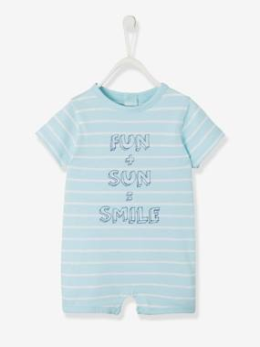Baby-Dungarees & All-in-ones-Beach Playsuit, for Baby Boys