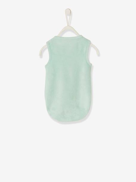 Playsuit in Terry Cloth for Baby Boys GREEN LIGHT SOLID - vertbaudet enfant