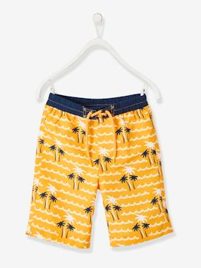 Swimwear-Swim Shorts for Boys, Palm Tree Motifs