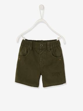 Baby-Shorts-Bermuda Shorts with Embroidered Inscription, for Baby Boys