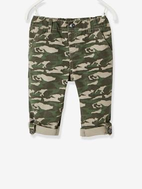 Boys-Trousers-Boys' Indestructible Cropped Trousers, Convertible into Bermuda Shorts