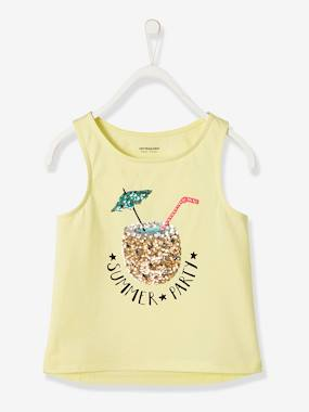 Girls-Tops-Top with Sequinned Pineapple, for Girls