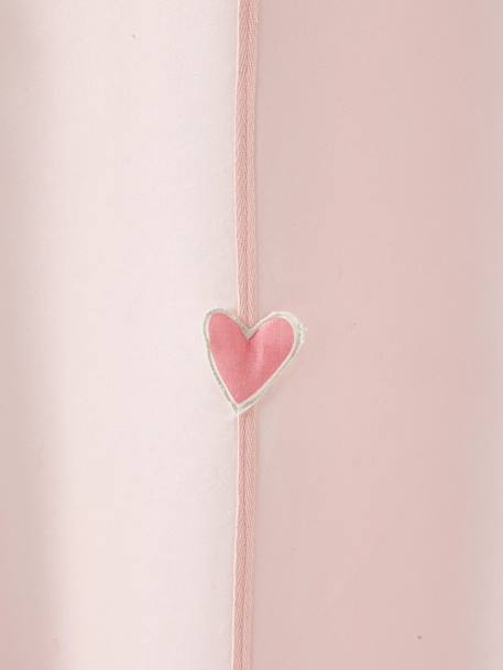 Sheer Curtain, Rainbow Theme PINK LIGHT SOLID WITH DESIGN - vertbaudet enfant