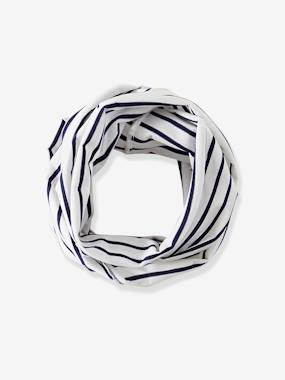 Baby-Hats & Accessories-Striped Infinity Scarf for Babies