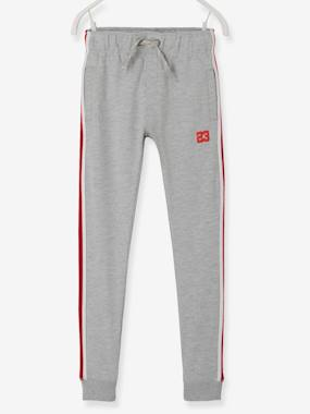 Boys-Sportswear-Joggers with Striped Panels on the Sides, for Boys