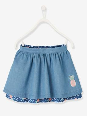 Vertbaudet Sale-Girls-Reversible Skirt for Girls