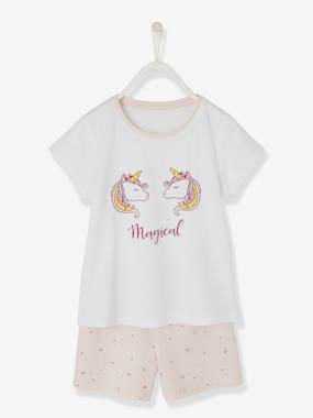 Mid season sale-Girls-Nightwear-Short Pyjamas for Girls, Unicorn