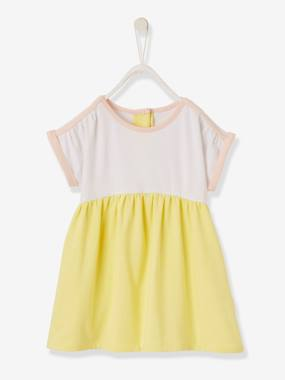 Baby-Dresses & Skirts-Two-tone Jersey Knit Dress for Babies
