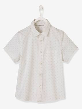 Festive favourite-Boys-Short-Sleeved Shirt with Graphic Motifs, for Boys