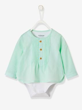 Festive favourite-Fancy Striped Shirt-Bodysuit for Baby Boys