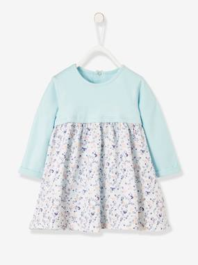 Vertbaudet Collection-Baby-Dresses & Skirts-Dress With Integrated Bodysuit for Newborn Babies