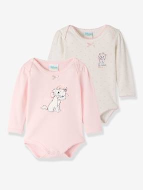 Vertbaudet Sale-Baby-Pack of 2 Disney® Bodysuits for Baby Girls, Aristocat Motif