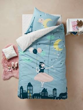 Vertbaudet Sale-Duvet Cover + Pillowcase Set for Children, Moonlight Theme