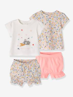 Baby-Pyjamas-Pack of 2 Two-Piece Cotton Pyjamas for Babies