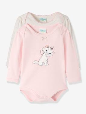 Baby-Bodysuits & Sleepsuits-Pack of 2 Disney® Bodysuits for Baby Girls, Aristocat Motif