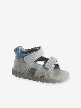 Shoes-Baby Footwear-Touch-Fastening Leather Sandals for Boys